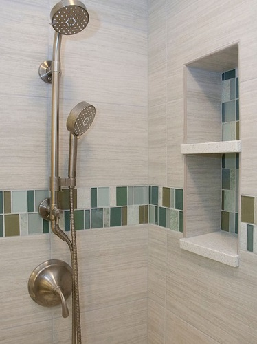 Brushed Nickel Showerhead from Wisconsin Kitchen Mart
